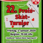 Plakat Skat Turnier 2020
